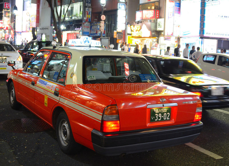 Download Tokyo Taxi editorial photography. Image of lanes, road - 21492557