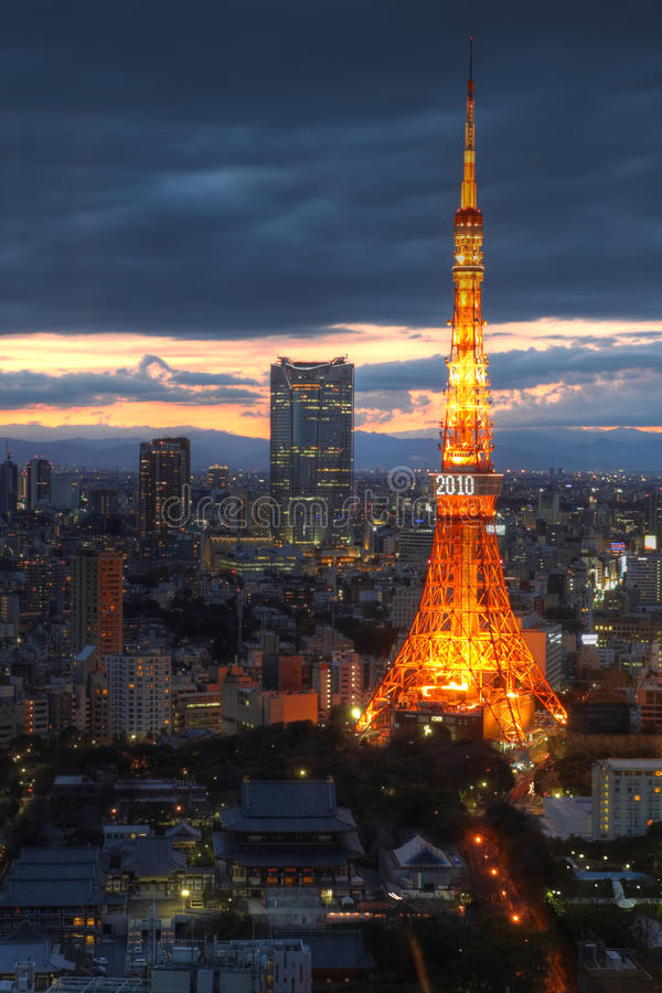 Free Tokyo Tower Aerial, Tokyo, Japan Stock Image - 15175621