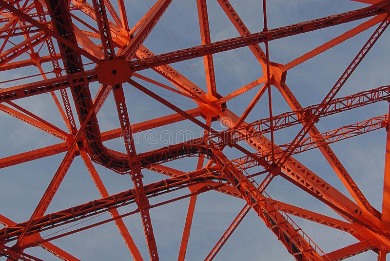 Tokyo tower detail royalty free stock photo