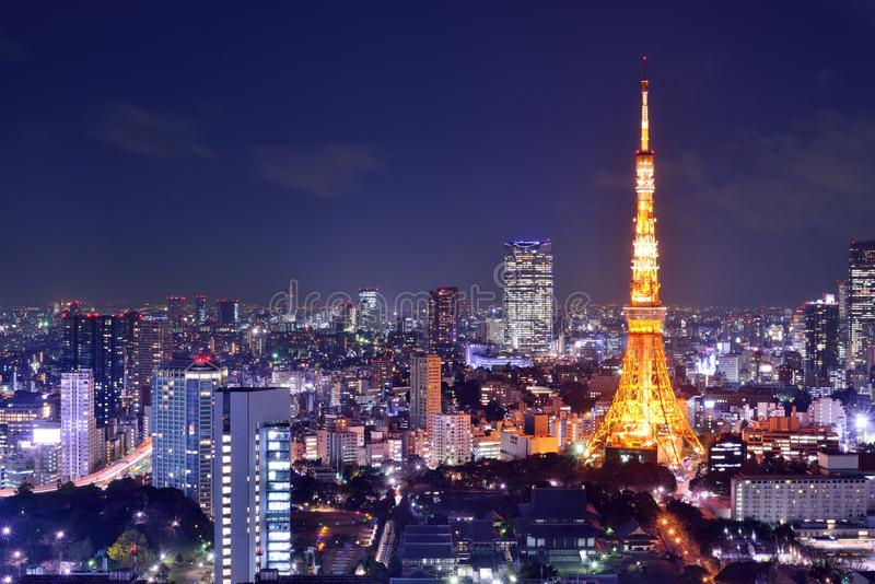 Download Tokyo Tower stock image. Image of night, communications - 32301317
