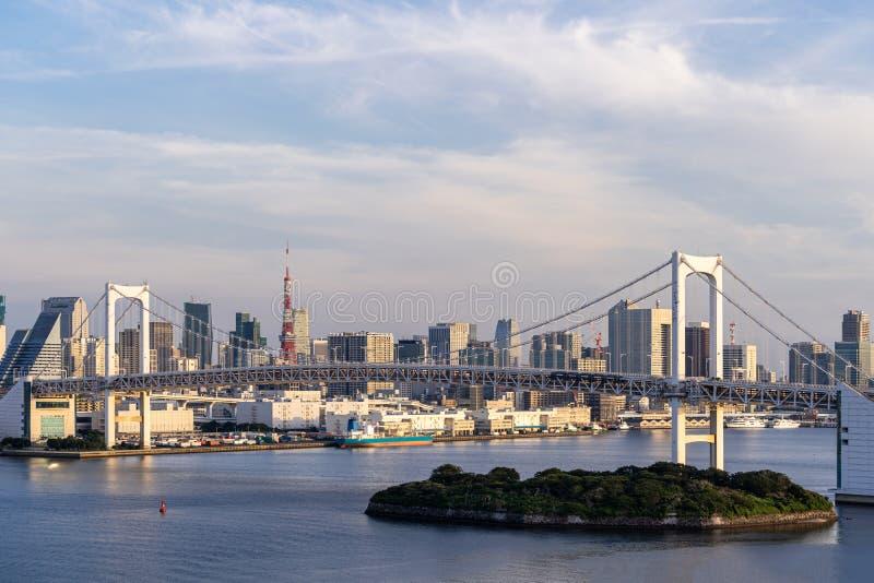 Tokyo Tower Rainbow bridge royalty free stock photos