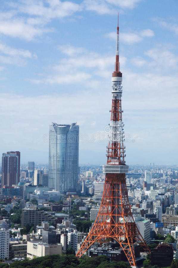 Tokyo tower and roppongi hills royalty free stock images