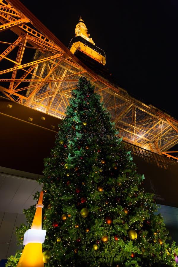 Tokyo Tower in Tokyo, Japan on Novem royalty free stock photo
