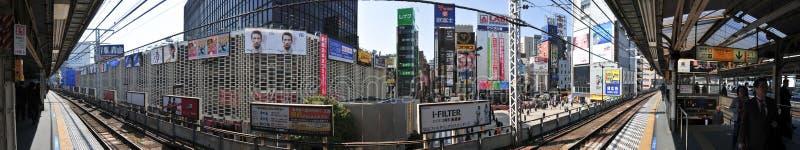 Tokyo tunnelbanapanorama arkivfoton