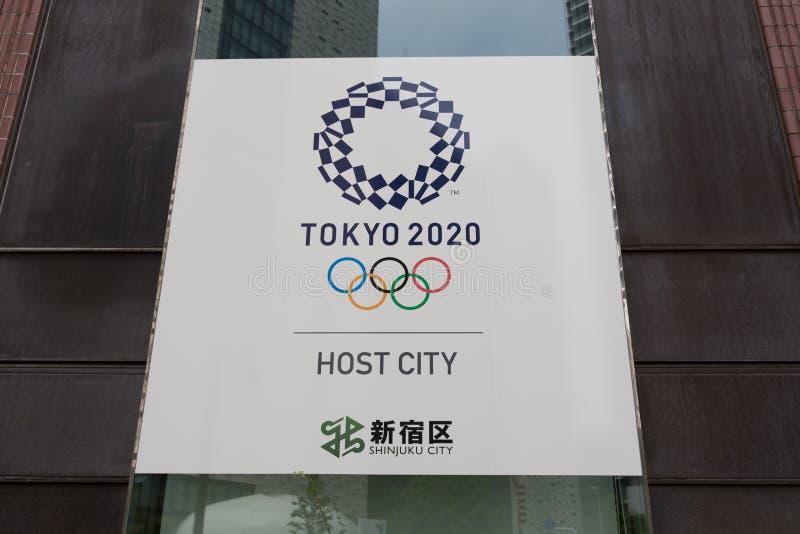 Tokyo una mostra di 2020 Olympics di estate a Tokyo, Giappone immagine stock