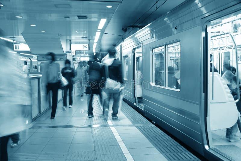 Tokyo-Untergrundbahn stockbilder