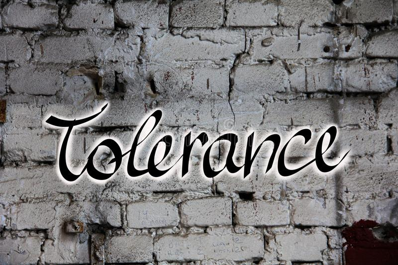 Tolérance de Word sur le mur image libre de droits