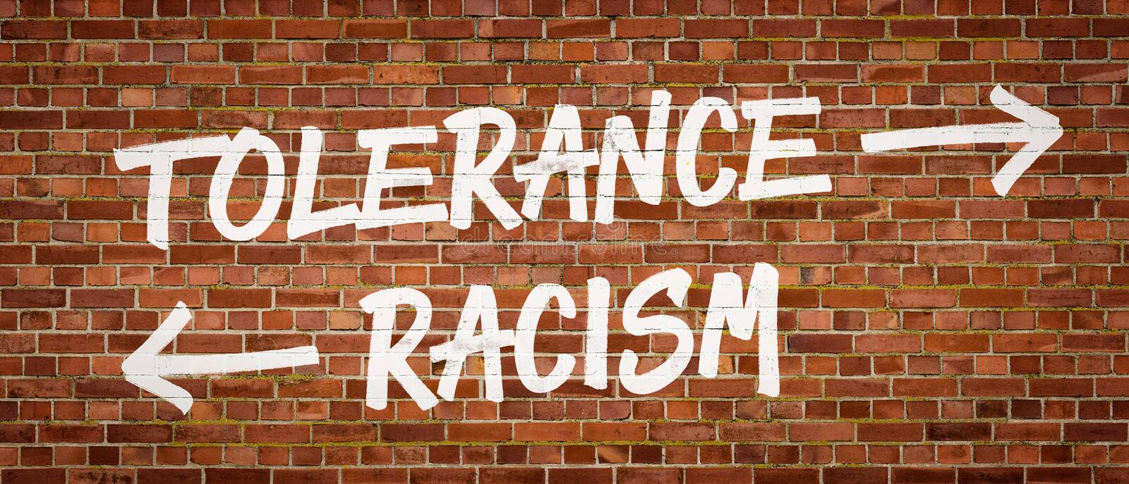 Tolérance ou racisme photo stock