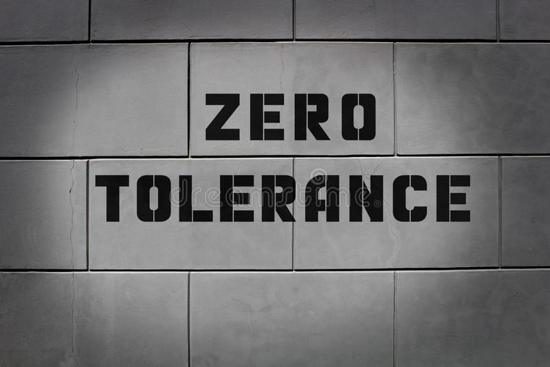 Tolérance zéro deux photos stock