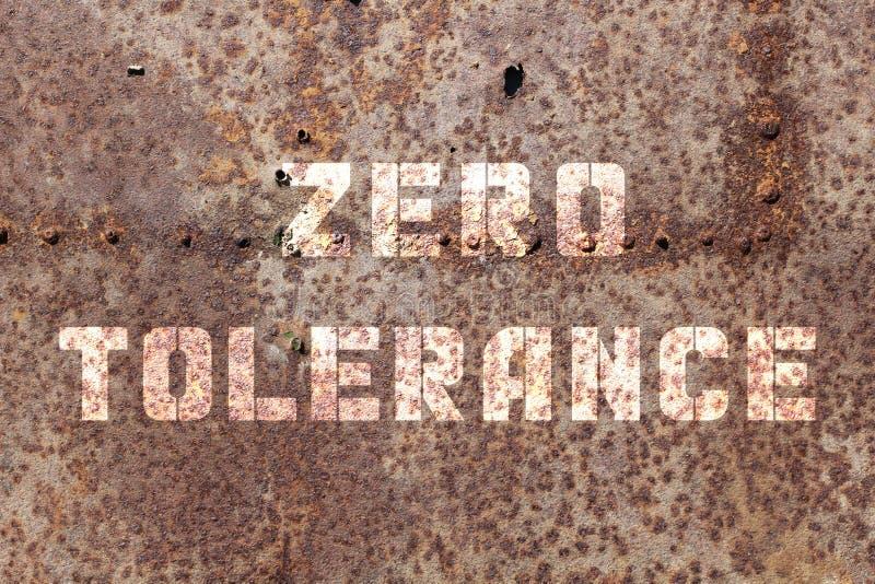 Tolérance zéro une images stock