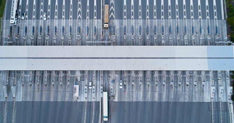 Tol op een weg stock afbeelding