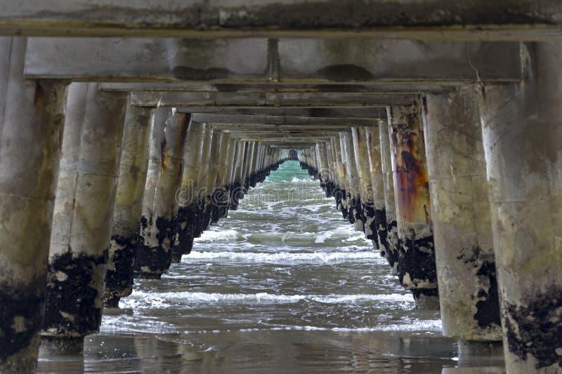 Tolaga海湾码头,太平洋,吉斯伯恩,新西兰 库存图片