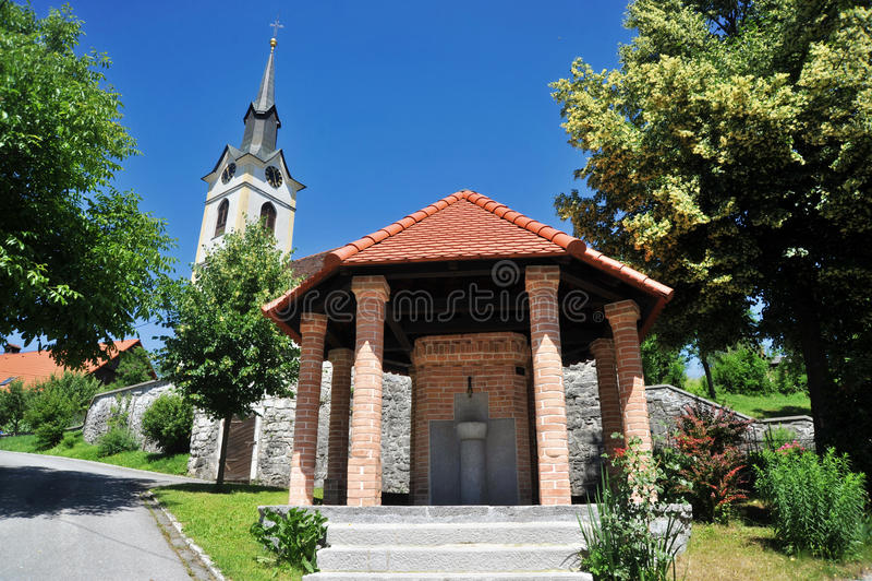 Tolazzi bem, Logatec, Eslovênia imagens de stock royalty free