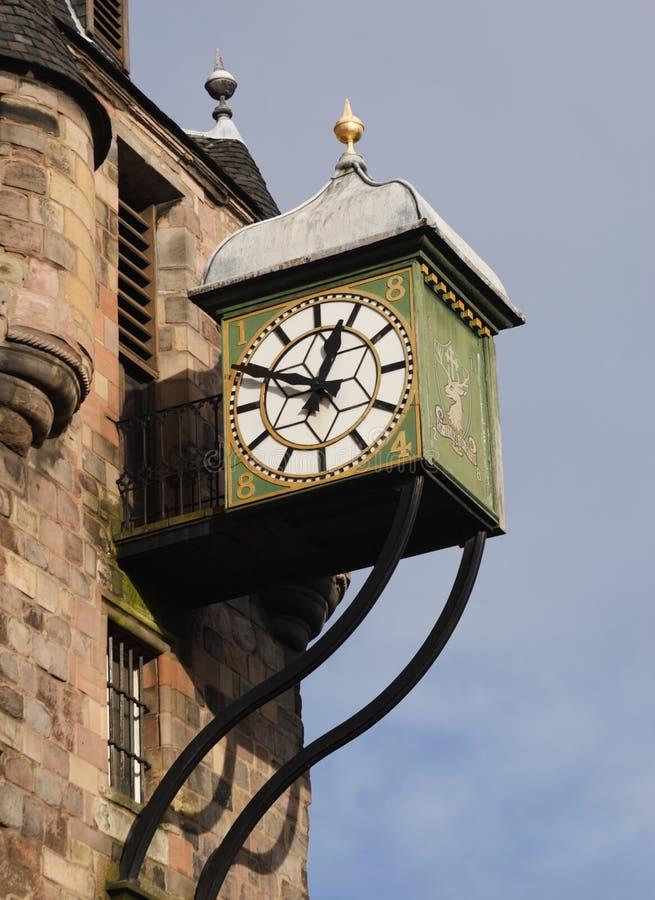 tolbooth d'horloge de canongate photo libre de droits