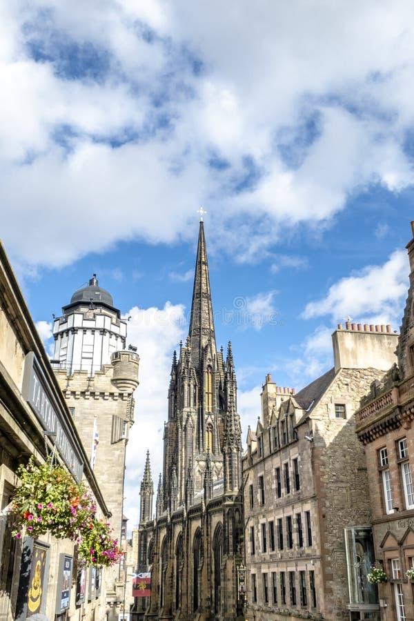 Tolbooth-Kirche, Edinburgh - Schottland stockfotografie