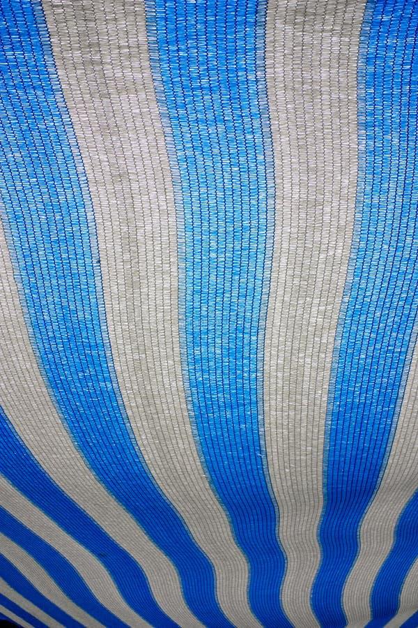 Toldo azul e branco fotos de stock royalty free