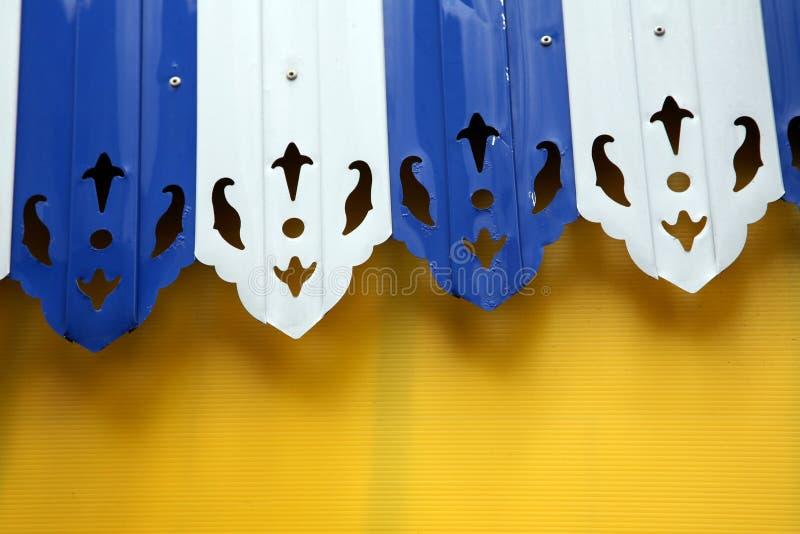 Toldo azul e branco imagem de stock