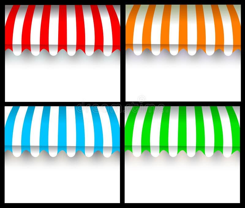 Toldo colorido fotos de archivo