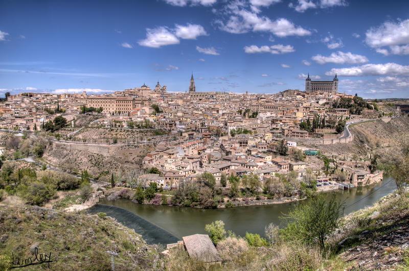 Toledo. Panoramic view of the city of Toledo, Castilla la Mancha, Spain stock photos