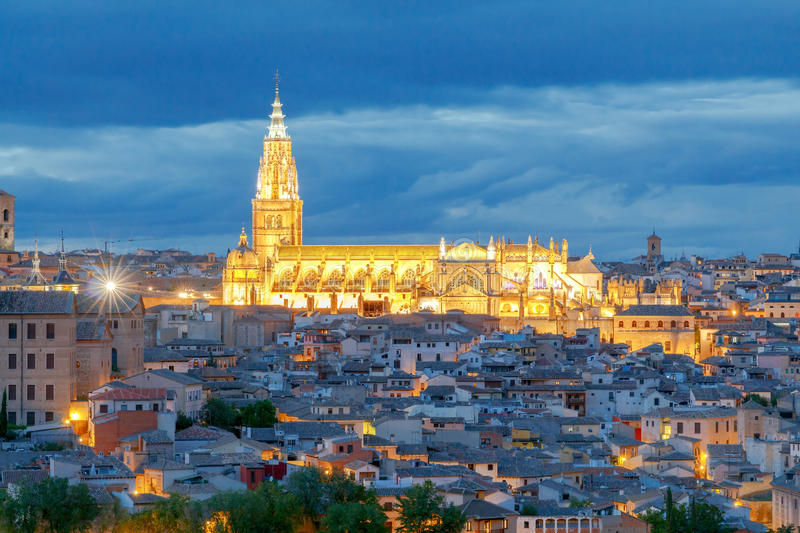 Toledo. Aerial view of the city. stock images