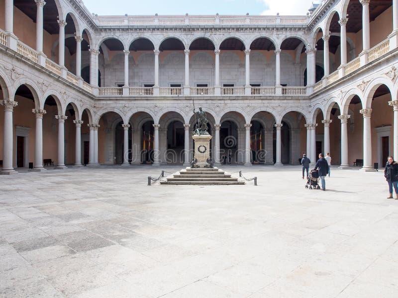 Toledo Alcazar, Spain royalty free stock photography