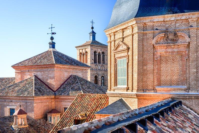Toledo Castilla la Mancha, Spanien - jesuitkyrka royaltyfria foton