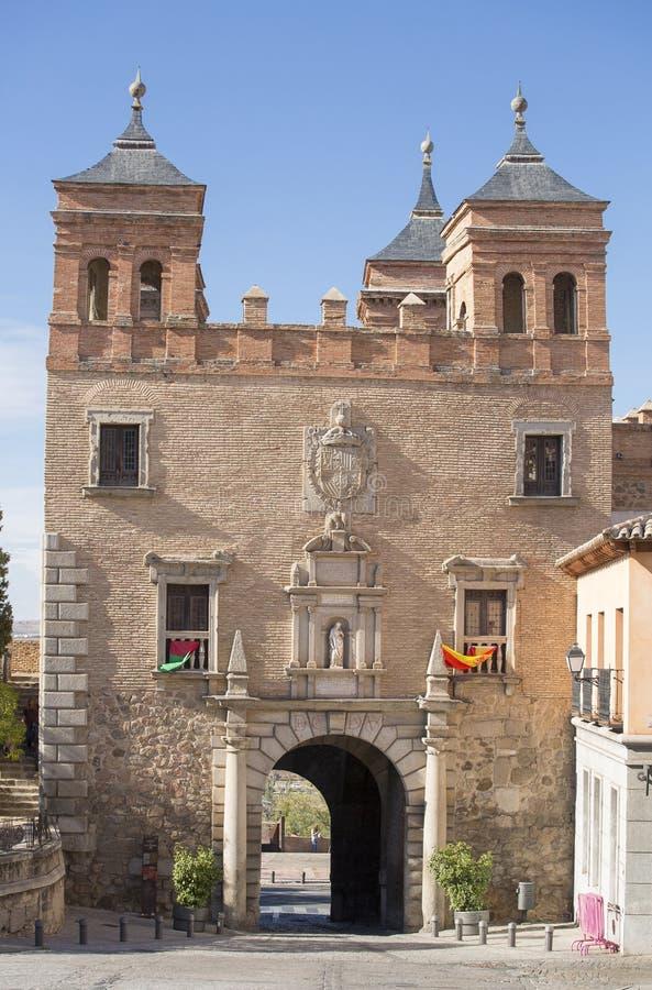 Toledo, Castilla La Mancha/Spanje 19 oktober, 2017 Deur van Cambrà ³ n, poort in de het westensector wordt gevestigd van de Spaan royalty-vrije stock fotografie
