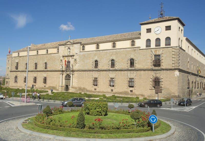 Toledo, Castilla La Mancha/Spanje 19 oktober, 2017 Het ziekenhuis Tavera is één van de mooiste en representatieve monumenten royalty-vrije stock foto's