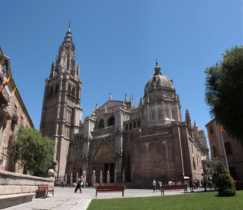 Toledo Cathedral stock image