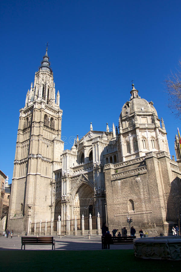 Toledo Cathedral. The Primate Cathedral of Saint Mary of Toledo (Spanish: Catedral Primada Santa María de Toledo) is a Roman Catholic cathedral in Toledo royalty free stock image