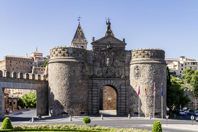 Toledo city entrance door. In a sunny day in Spain stock image