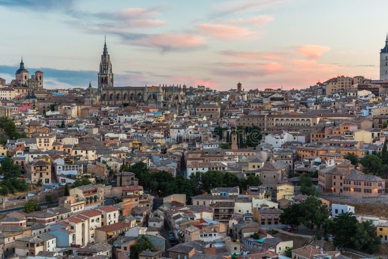 Toledo Cityscape. Cityscape of Toledo, Spain at Sunrise royalty free stock images