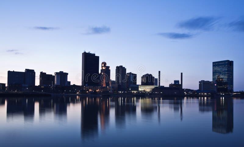 Toledo de stad in stock foto