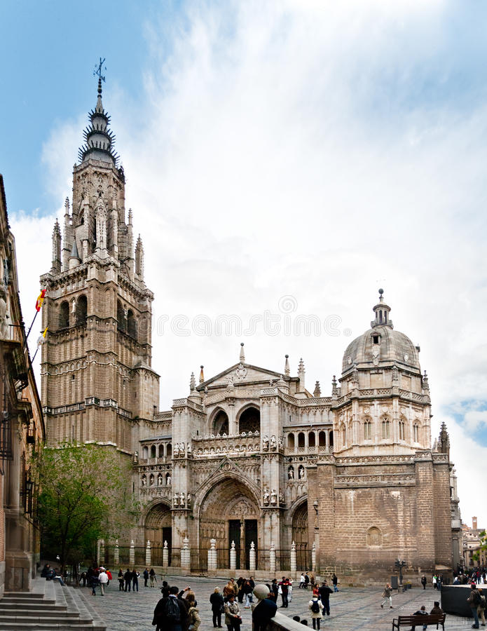 Toledo domkyrka royaltyfri bild