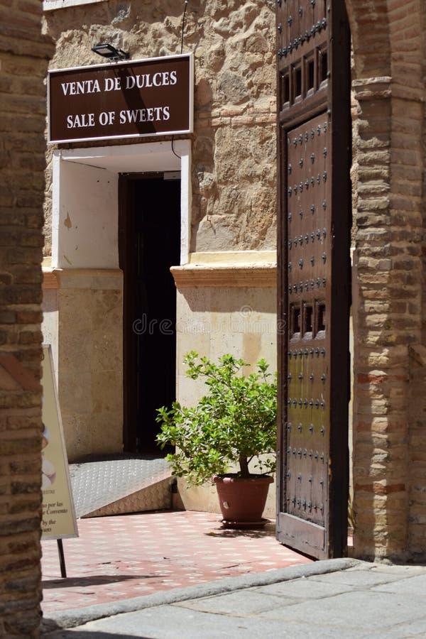 Toledo en av de mest härliga städerna i Spanien arkivbild