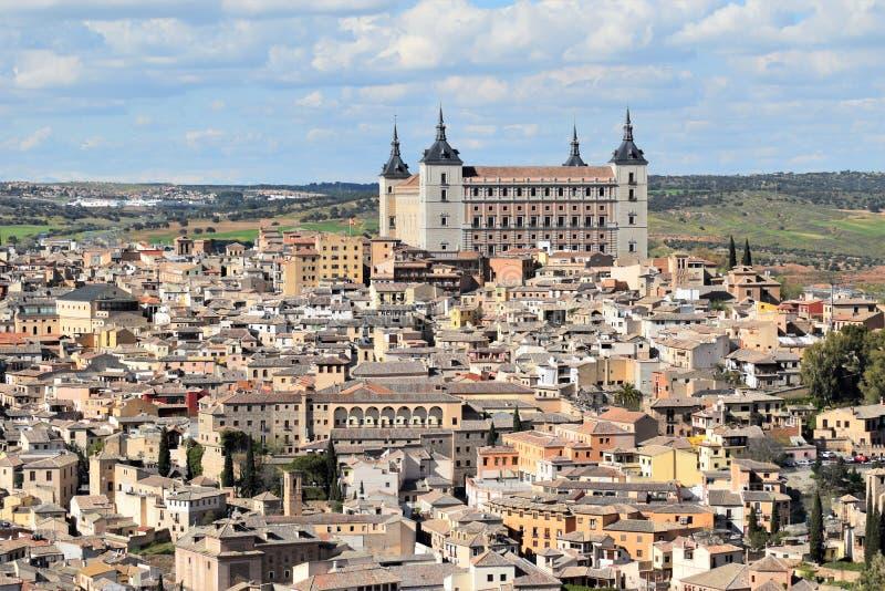 Toledo en av de mest härliga städerna i Spanien arkivbilder