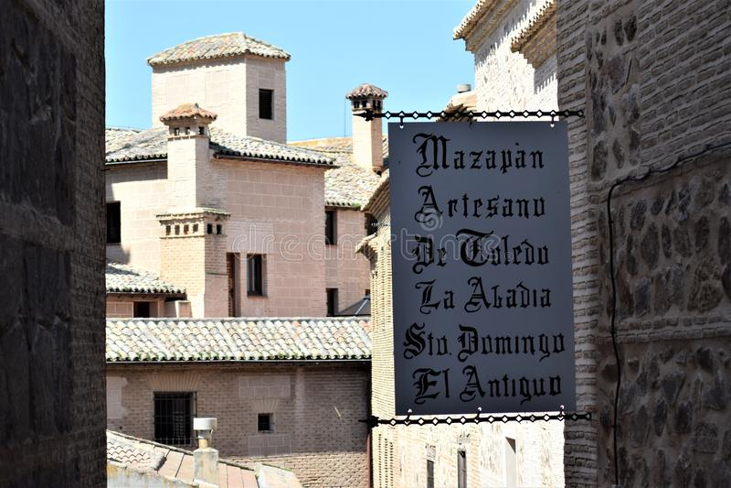 Toledo en av de mest härliga städerna i Spanien arkivfoto