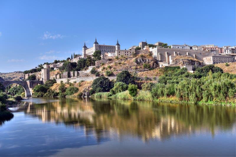 Toledo gammal stadhorisont royaltyfri foto