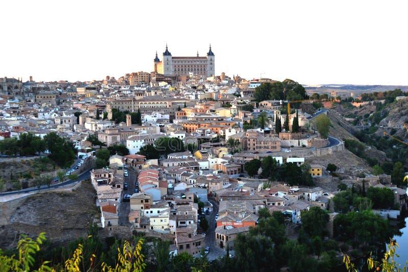 """Toledo, hiszpaÅ""""ski krajobraz miasta Alcazar zdjęcie stock"""