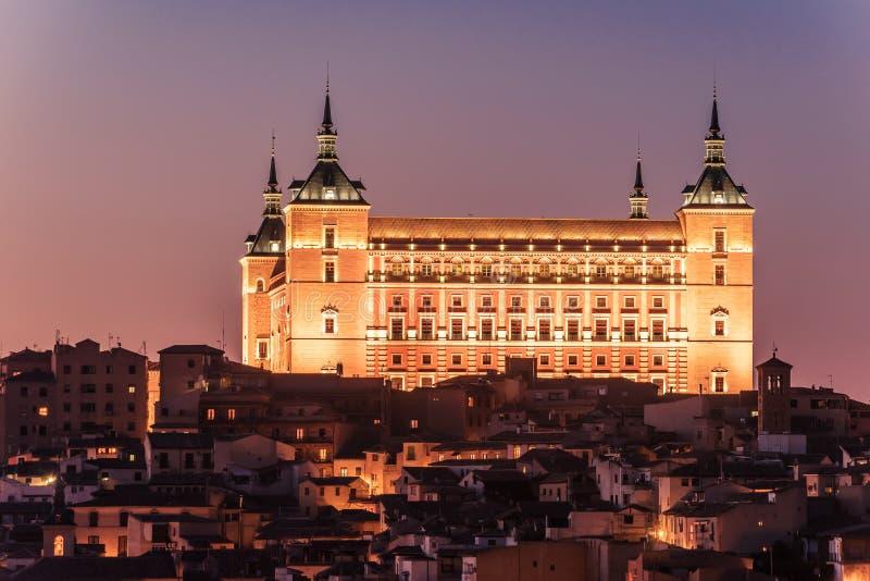 Toledo, Hiszpania: alcasar zdjęcia royalty free