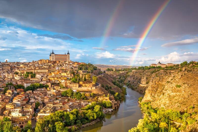 Toledo, Hiszpania linia horyzontu obrazy stock