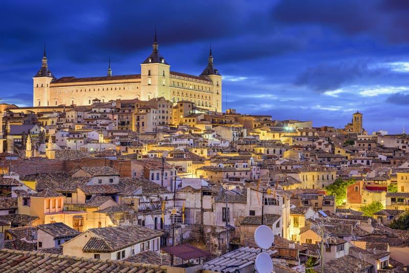 Toledo, Hiszpania miasteczko linia horyzontu obrazy royalty free