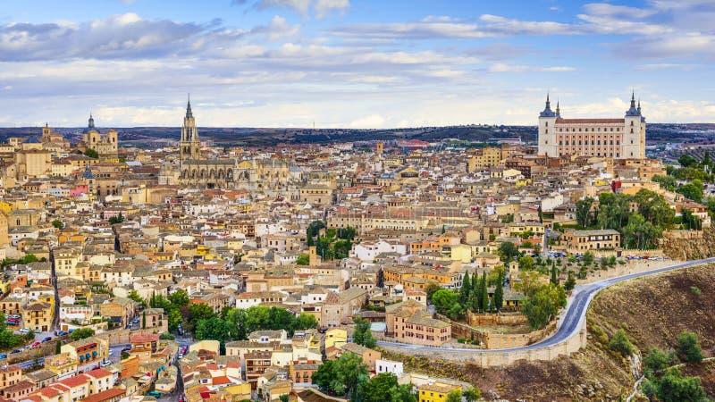 Toledo, Hiszpania miasteczko linia horyzontu zdjęcie stock