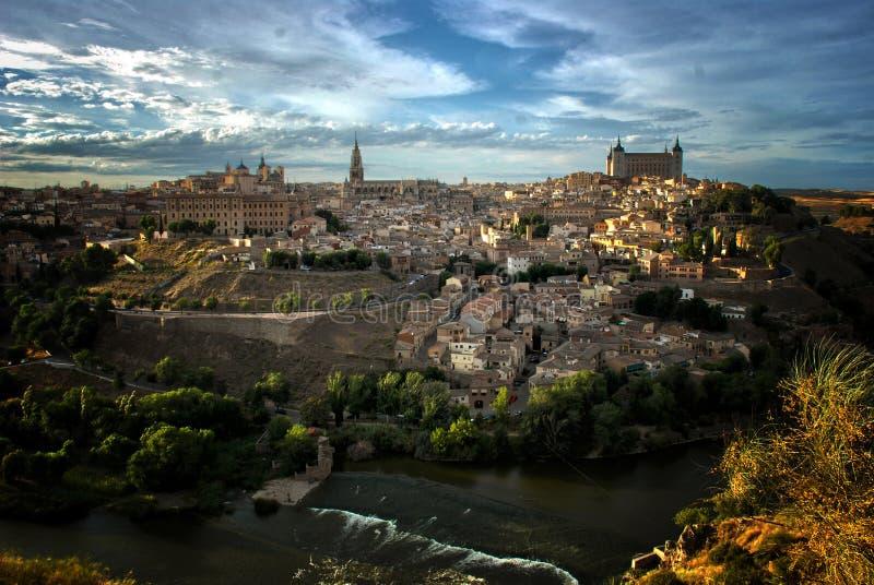 Toledo i Tajo rzeka, Hiszpania fotografia royalty free