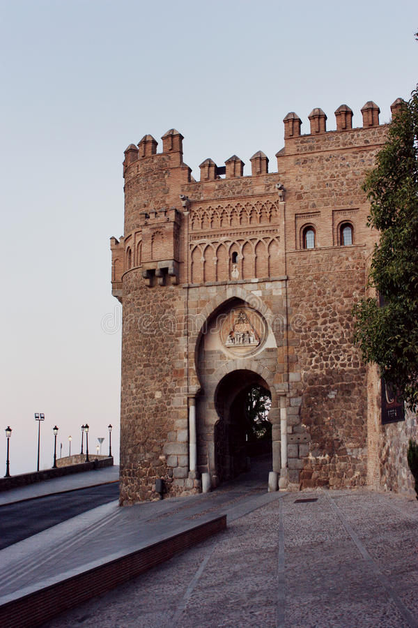 Toledo miasta stara brama obraz stock