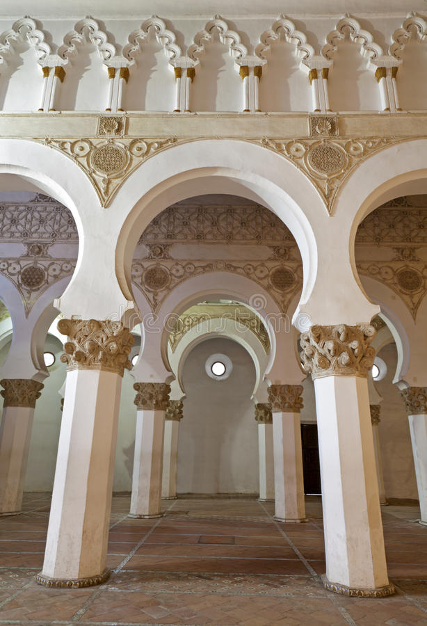 Download Toledo - Mudejar Archs From Synagogue Santa Maria La Blanca. Stock Image - Image: 29885291