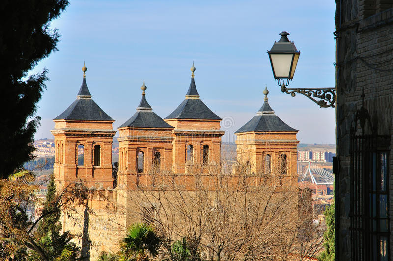 Toledo mudejar towers. In Spain royalty free stock images