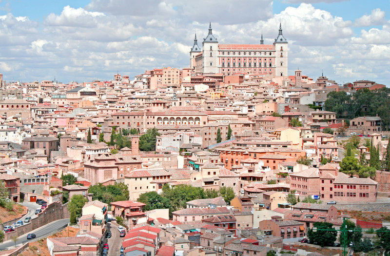 Toledo panoramiczny widok fotografia stock
