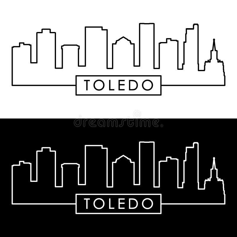 Toledo-Skyline lineare Art vektor abbildung