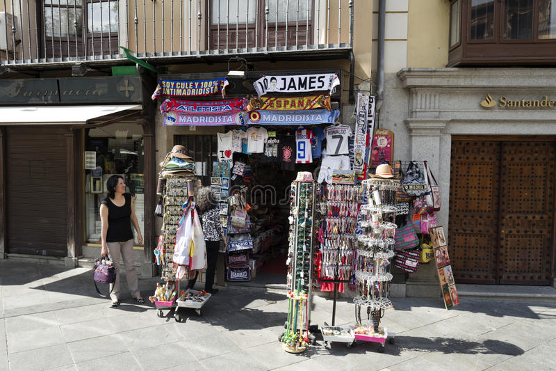 Toledo Souvenir Shop foto de archivo libre de regalías